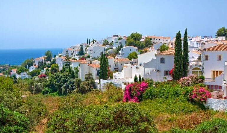 White houses in Spain