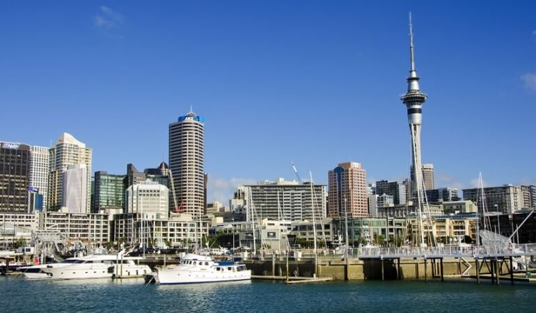 City scape of a city in New Zealand