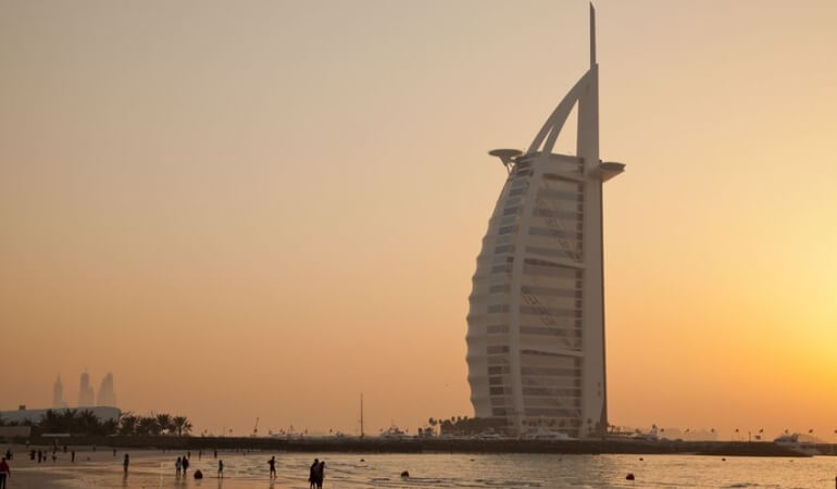 Sunset in United Arab Emirates